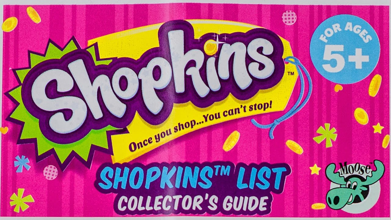 High Quality SHOPKINS Season 2 List Checklist Collector Guide 2015