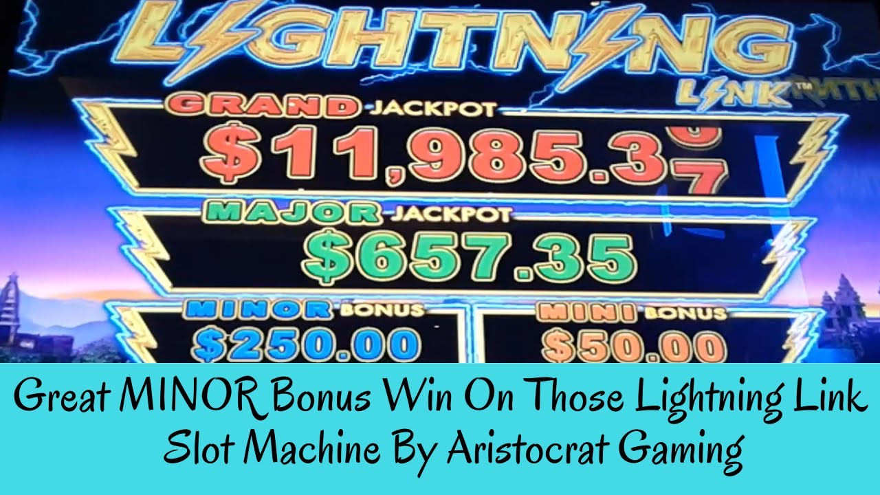 Great Minor Bonus Win On Those Lightning Link Slot Machine By Aristocrat Gaming Sunflower Slots Youtube