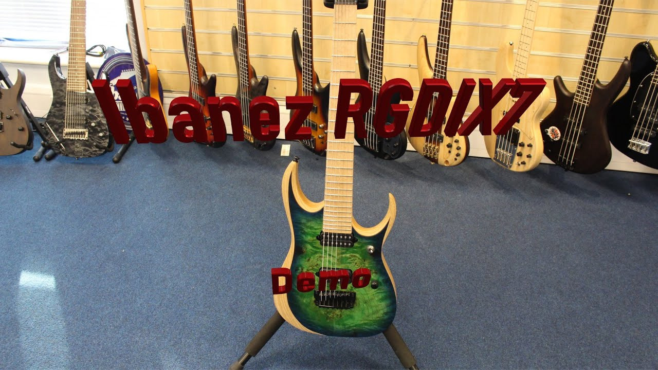 ibanez 2016 rgdix7mpb sbb 7 string iron label rgd series demo