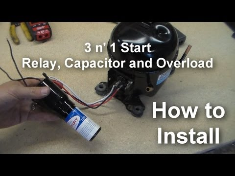 how to wire in a rc 0210 hard start kit on a 115 volt embraco 5 58