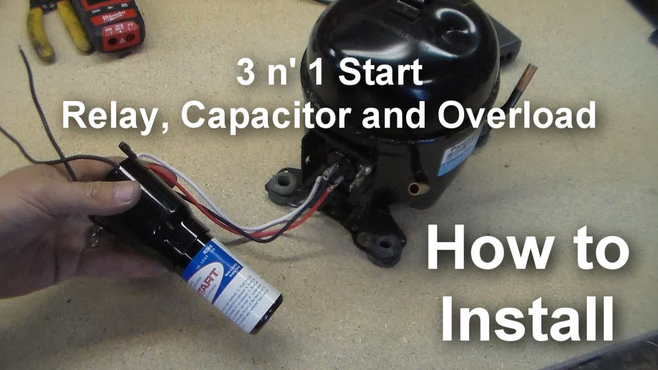 How To Install A Universal Relay 3 N 1 Starter On Your Compressor Wiring Motor Youtube