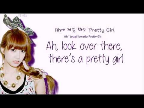 f(x) -  Pretty Girl (Color Coded Lyrics: Hangul, Romaji, English)
