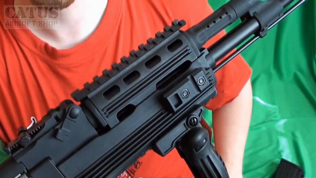 Airsoft gun review : Cybergun Kalashnikov AK47 assault rifle tactical  folding stock version