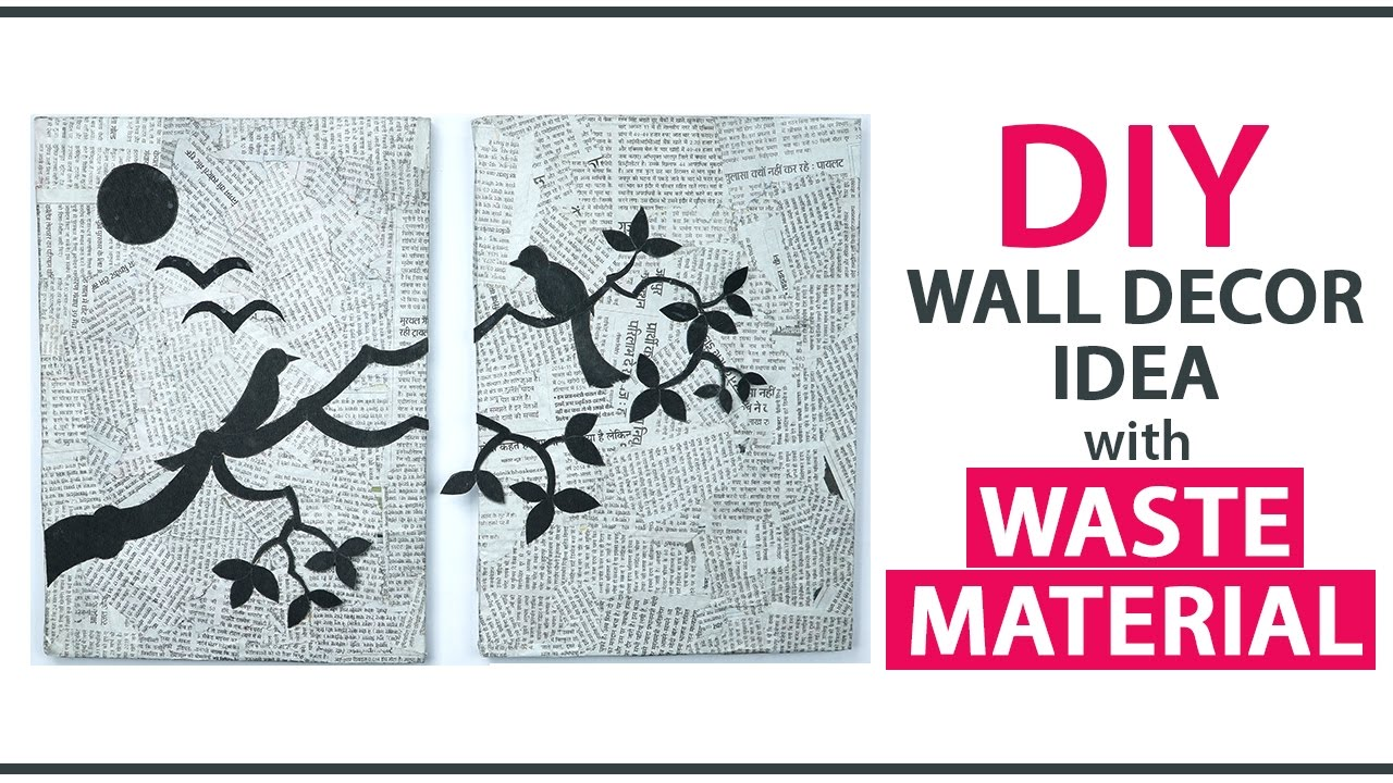 Diy wall decoration ideas from waste material diy room for Wall hanging out of waste material