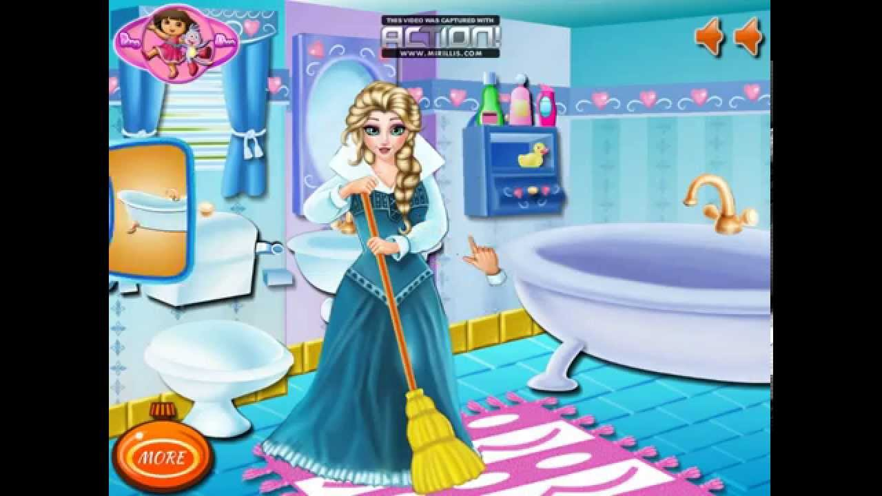Clean up bathroom games - Disney Frozen Games Frozen Elsa Bathroom Clean Up Best Disney Princess Games For Girls And Kids