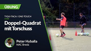 Peter Hyballa - Doppel-Quadrat mit Torschuss