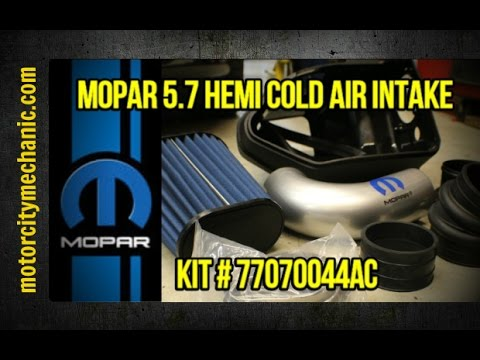 f210feae539 Mopar 5.7 Hemi cold air intake Kit   77070044AC - YouTube