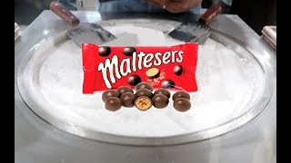 Chocolate Balls Maltesers ICE CREAM ROLLS VS Hello Panda Biscuit Ice Cream Roll Satisfying Video