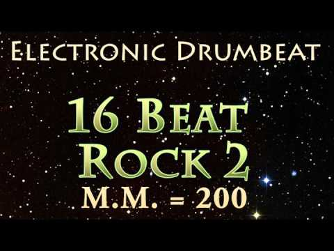 16 Beat Rock 2 (Electronic Drumbeat) M.M. = 200