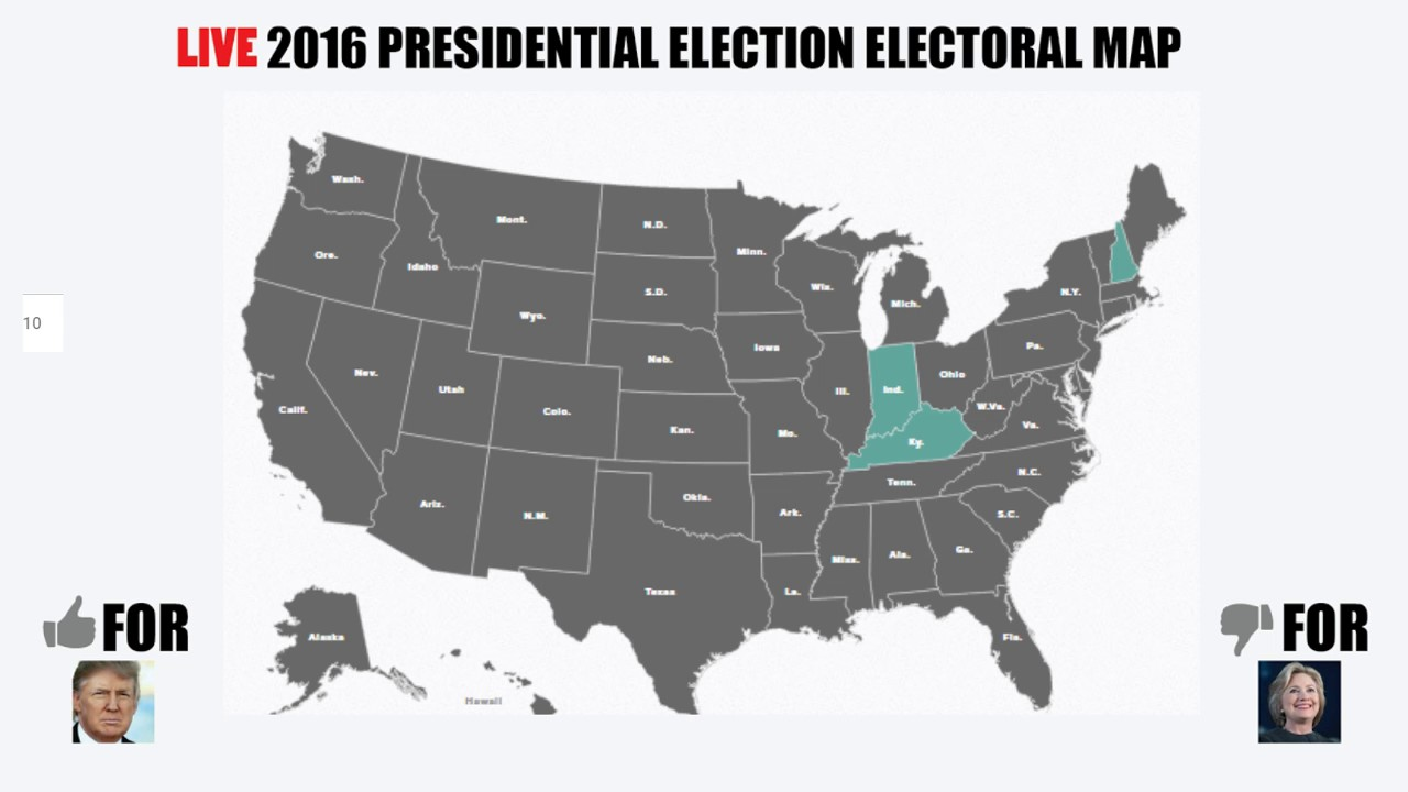 Nov Th Electoral Map Livestream YouTube - Live map of us 2016 election
