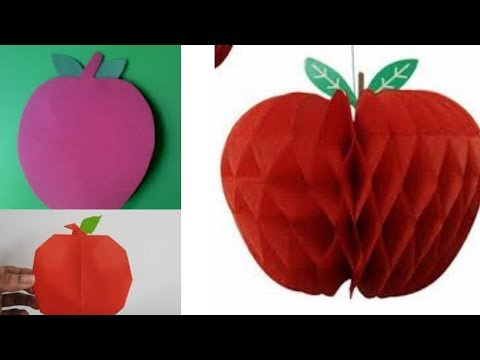 How to Make Paper Apple Fruits (कागजको स्याउ कसरी बनाउने ? नेपालीमा)