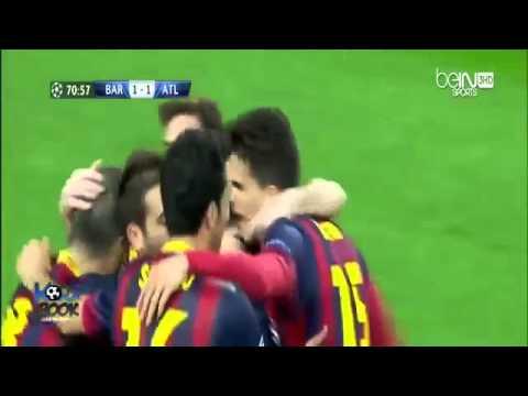 Барселона  Атлетико Лига чемпионов 2013 2014,1 4 финала Обзор матча