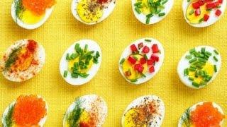 Яйца фаршированные. Фото примеры оформления