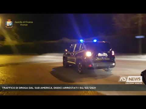 TRAFFICO DI DROGA DAL SUD AMERICA, DODICI ARRESTATI | 04/02/2021