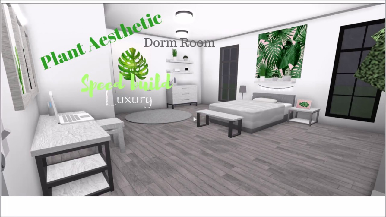Plant Aesthetic Luxury Dorm Room Speed build // Roblox ...