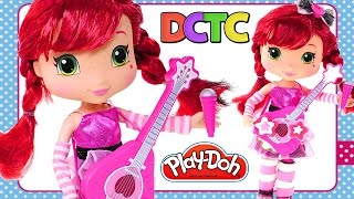 Singing Strawberry Shortcake Doll Guitar Microphone Talk And Sing Play Doh Decorating By Dctc
