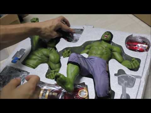 [Unboxing] King Arts 1/9 Hulk & Hulkbuster Jackhammer arm !
