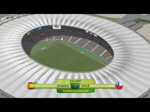 World Cup 2014 SPAIN vs CHILE 0 2 18th June WM 2014