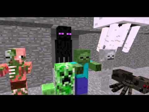 Monster School  Combat   (Minecraft Animation 1)