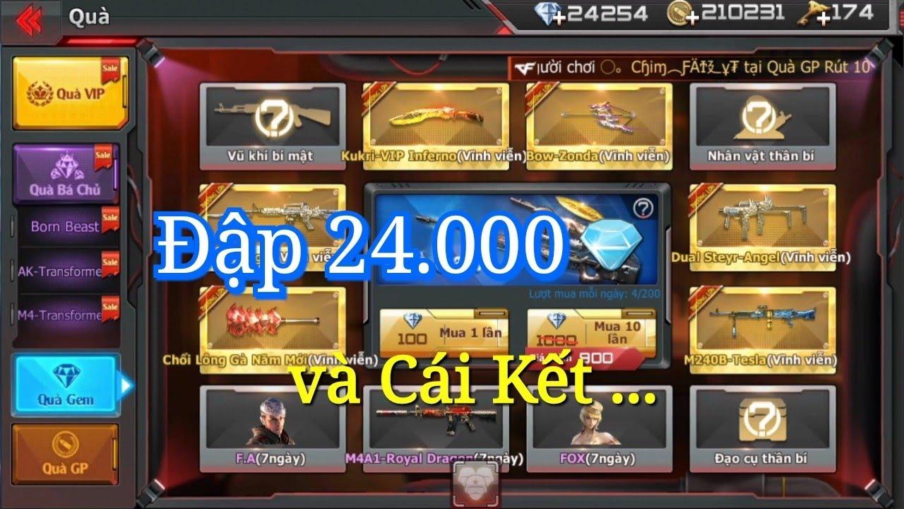CF Mobile/CF Legends   Quay 200 Lần VQMM lấy Kukri-Inferno + Dual TMP VIP …và Cái Kết …