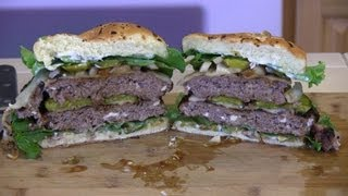 Smokingpit.com - Blue Cheese Mushroom & Swiss Buffalo Burger Santa Maria Grilled On The Scottsdale