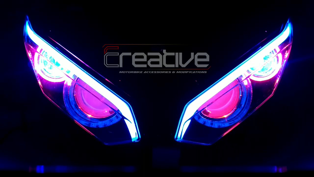 Cbr150r Facelift Rgb Running Light Angeleyes Hid Projector Youtube Lampu Stop Cb 150r Led Premium