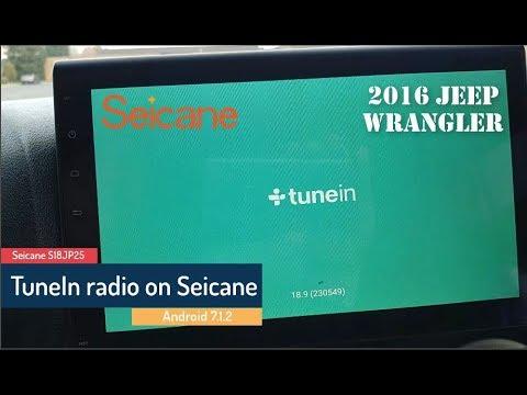 TuneIn radio on a Seicane android head unit
