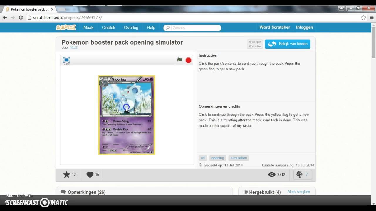 Booster pack simulator pokemon opening Pokemon card