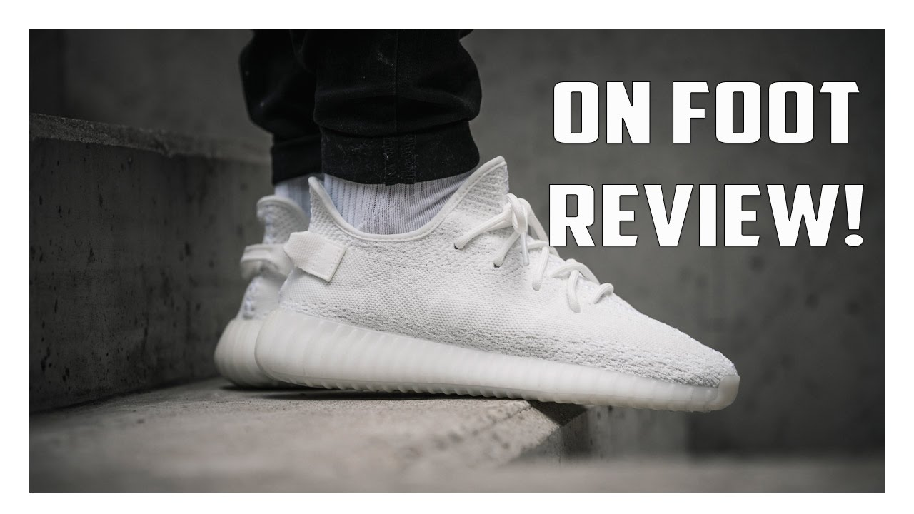 online store be017 89439 Yeezy Boost 350 V2 Triple White RESTOCK On Foot Review