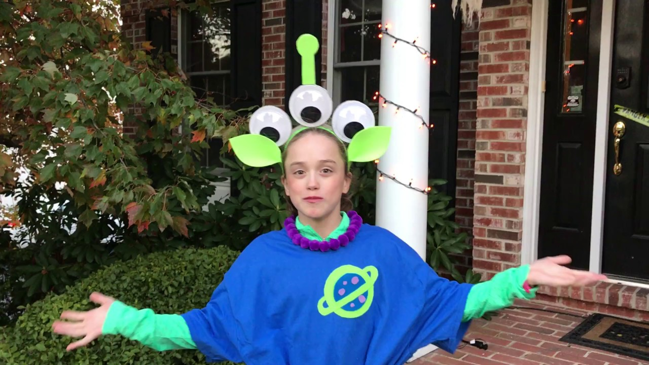 DIY Toy Story Alien Costume #ToyStoryLand #DisneySMMC  sc 1 st  YouTube & DIY: Toy Story Alien Costume #ToyStoryLand #DisneySMMC - YouTube