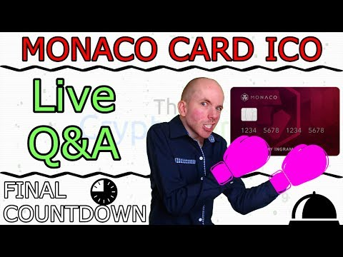 Monaco Card ICO Live Interview With CEO Kris Marszalek and Final Countdown (The Cryptoverse #284)