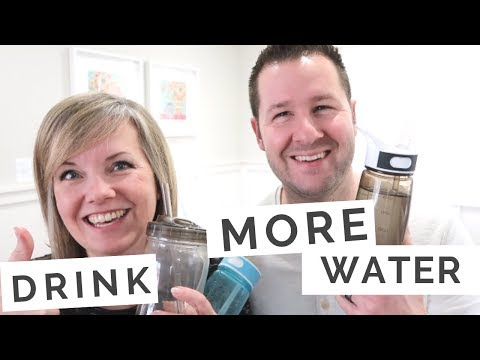More Water = More Energy = Lose Weight! 3 Tips that work for us to drink more water everyday!