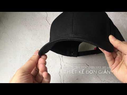 Mũ lưỡi trai đen trơn đẹp   Địa chỉ mua nón lưỡi trai nam đẹp giá tốt