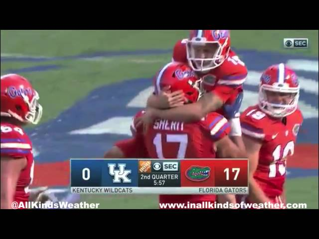 2016 #25 Florida Gators vs. Kentucky Wildcats
