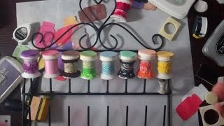 DIY Project:  Make ink daubers with thread spools