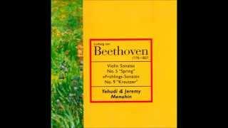 Beethoven - Violin Sonatas by Yehudi & Menuhin [1 hour of classical music]