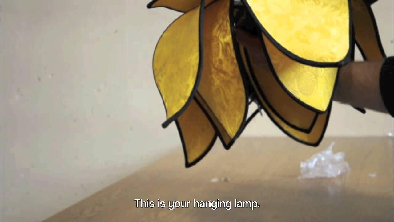 Om Gallerys How To Video Blooming Lotus Hanging Lamp Youtube