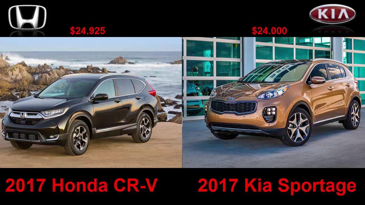 2017 Honda Cr V Vs Kia Sportage