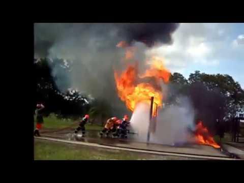 Badak LNG Fire Brigade Exercise
