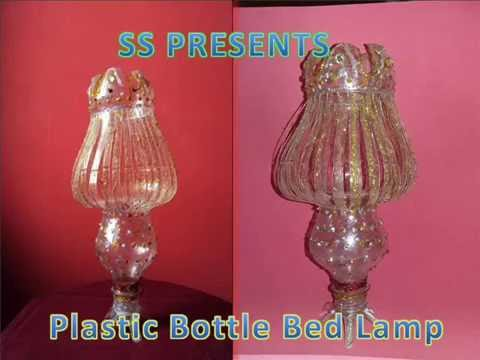 recycled craft ideas for home plastic bottle bed lamp 7091