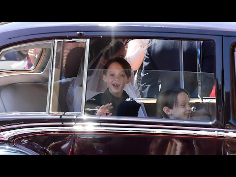 7-Year-Old Page Boys Have Time of Their Lives at Royal Wedding