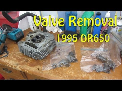 Valve Removal 1995 DR650 - YouTube