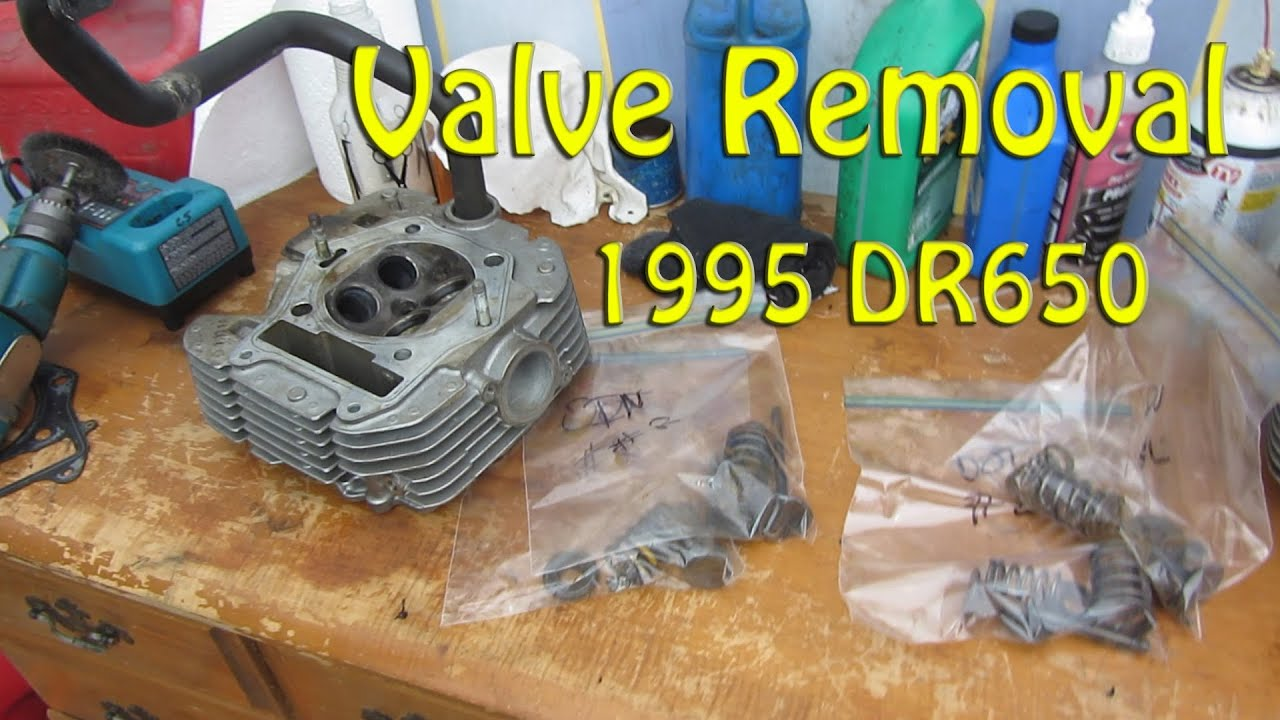 Valve Removal 1995 DR650