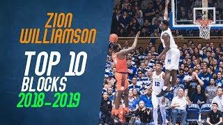 Zion Williamson Top 10 Blocks from 2018-2019 NCAA Season