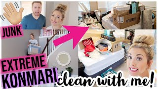 CLEAN WITH ME 2019 | ULTIMATE KONMARI DECLUTTER + EXTREME CLEANING MOTIVATION | Brianna K