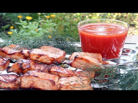 Шашлык из свинины в томатном соке. Быстрый маринад для шашлыка