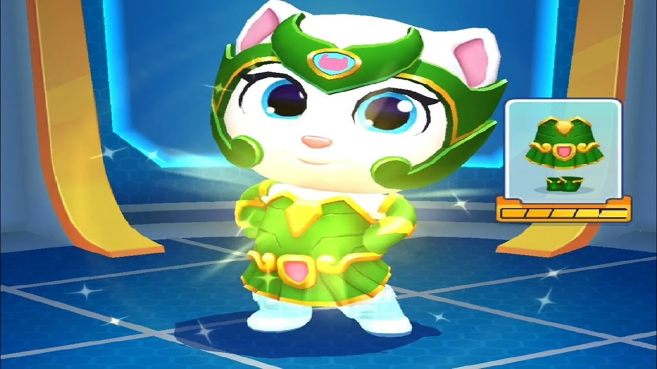 TALKING TOM HERO DASH NEW UPDATE Superhero ANGELA New Outfit Unlocked Android iOS Gameplay