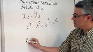Multiplicar radicales con distinto índice. Aprende Ḿatemáticas.