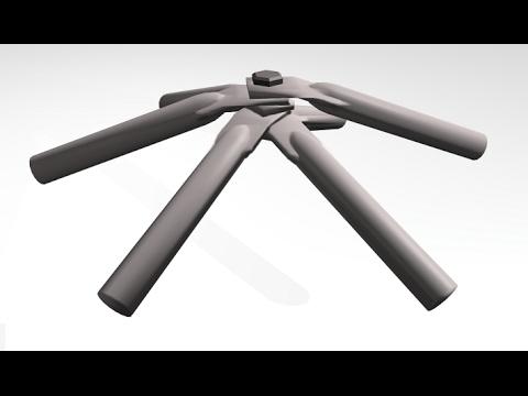 Dome build methods - flattened conduit - YouTube