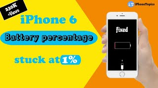 iPhone 6 battery percentage stuck at 1% or 100%? Here's the